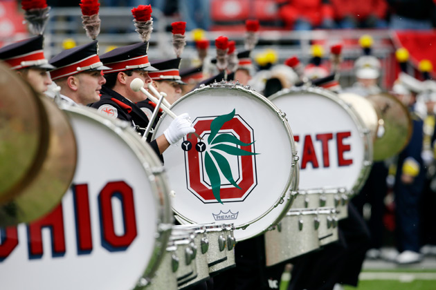 OHIO STATE'S MARCHING BAND HURLS DOWN THE GAUNTLET