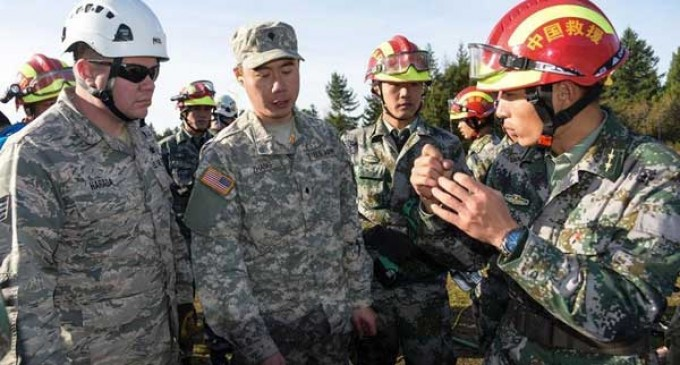 CHINESE ARMY TO SET FOOT ON U.S. SOIL FOR THE FIRST TIME