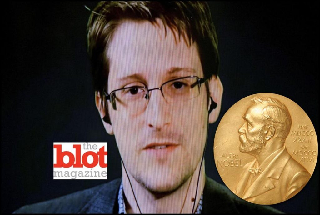 EDWARD SNOWDEN NOMINATED FOR NOBEL PEACE PRIZE BY NORWEGIAN LAWMAKERS