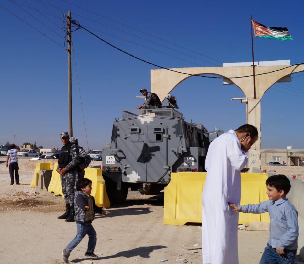 Entrance to Za'atari. (Photo by Kirsten Koza)