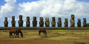 Easter Island statues (photo by Kirsten Koza)