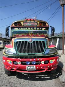 "The ""chicken bus"" in Guatemala. (photo by Kirsten Koza)"