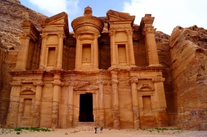 The monastery at Petra, in Jordan. There are horses, camels, mules, donkeys and horse carriages at Petra. You don't need to have a heart attack. (photo by Kirsten Koza)