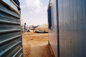 Some refugees still live in tents and new refugees are given tents before they're upgraded to a prefab dwelling. (photo Kirsten Koza)