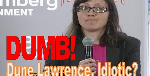 DUNE LAWRENCE, BLOOMBERG REPORTER ADMITS DUMB ON TECHNOLOGY