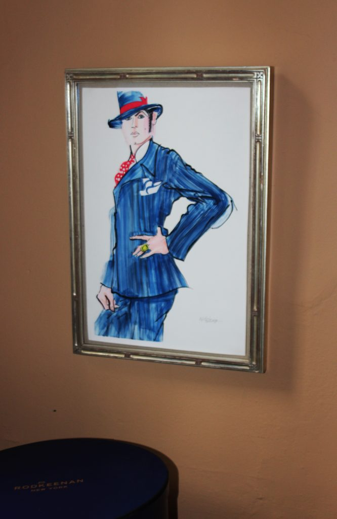 An illustration of the Dandy of New York by Chuck Nitzberg. (Photo by Gazelle Paulo)
