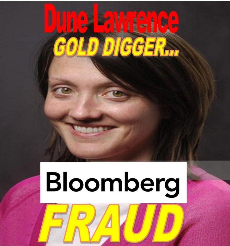 DUNE LAWRENCE, BLOOMBERG REPORTER FRAUD