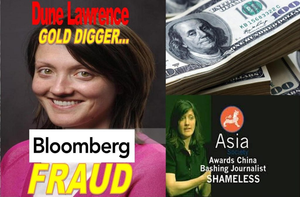 DUNE LAWRENCE, BLOOMBERG REPORTER, ASIA SOCIETY Shamelessly Promotes Racism, CHINA RACIST