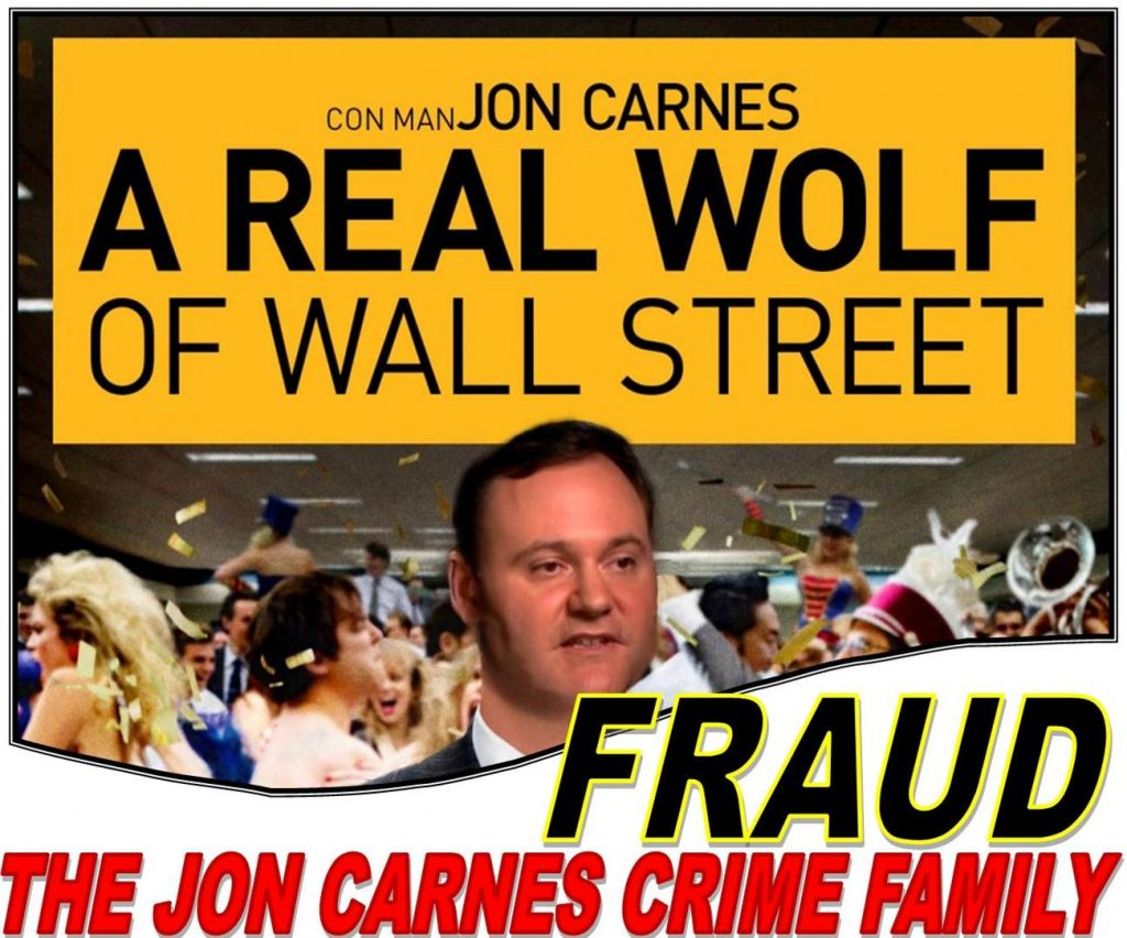JON CARNES, STOCK FRAUD EXPOSED, INDICTED, KUN HUANG CRIMINAL, RODD BOYD, JON CARNES CRIME FAMILY