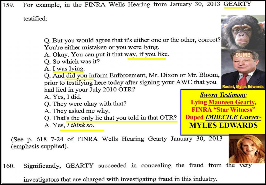 MYLES EDWARDS, LAWYER, FINRA ARBITRATOR DUPED IN MAUREEN GEARTY FRAUD