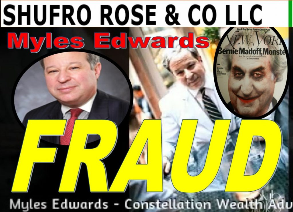 Myles Edwards, Shufro Rose, lawyer, General Counsel, FINRA, Joan Caridi, Credit Suisse, compliance, Charles Senatore, Richard Ketchum, Jeffrey Bloom, Chris Brummer, Fraud
