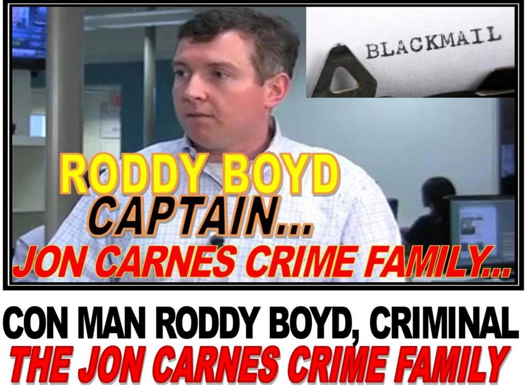 RODDY BOYD, CON MAN CAUGHT IN MASSIVE STOCK FRAUD