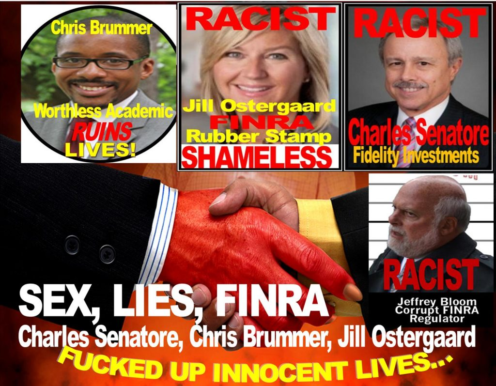 charles senatore, jill ostergaard, chris brummer, FINRA dumb screw up innocent lives