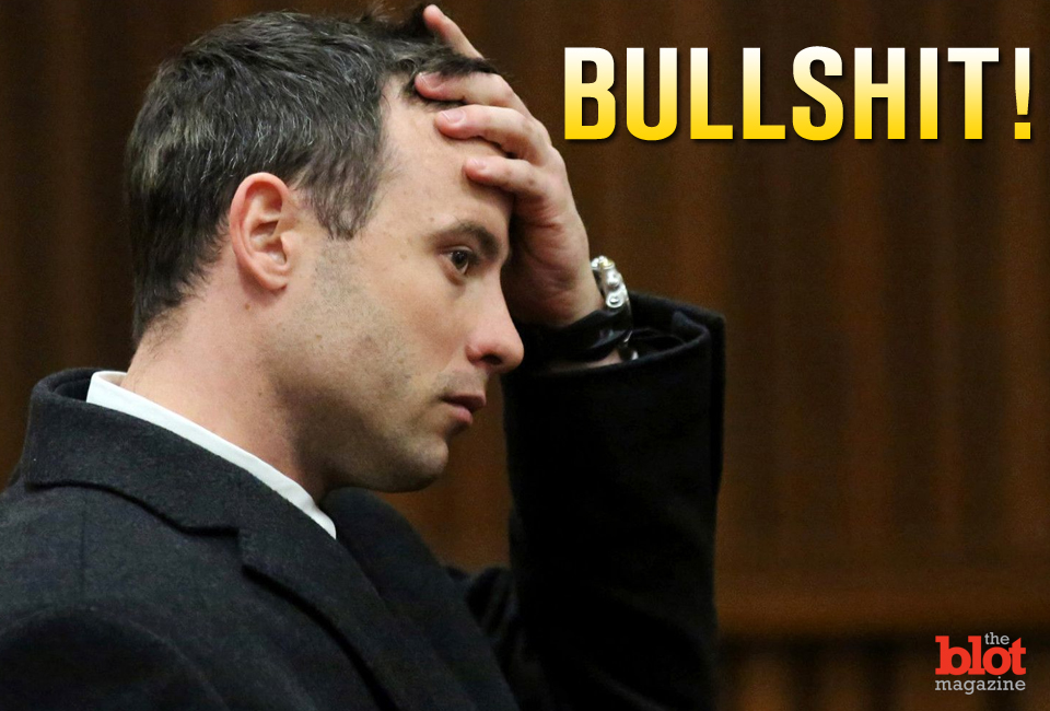 That's pretty much all we can say about Oscar Pistorius' sentencing. (huffingtonpost.co.uk photo)