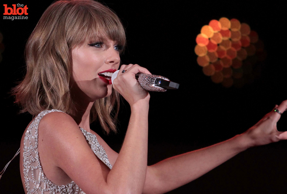 Taylor Swift,performing Oct. 24 in L.A., has remained grounded and wholesome, making her a true, highly marketable talent. (© GoldenEye /London Entertainment/Splash News/Corbis image)