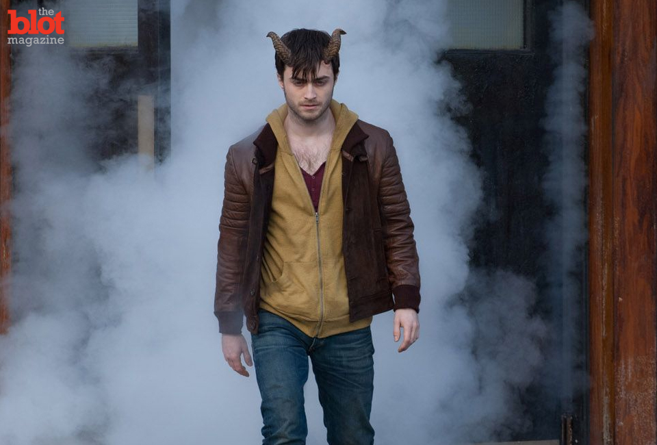 Forget Harry Potter's glasses: Daniel Radcliffe's latest accessory is a pair of 'Horns.' (Radius-TWC image)