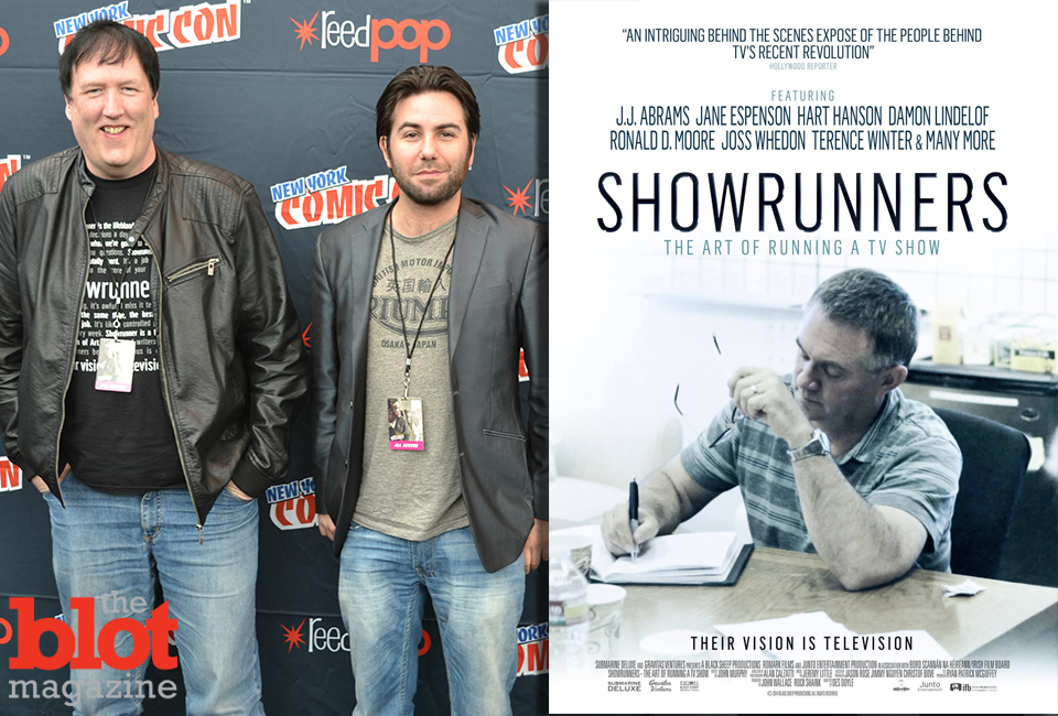 'Showrunners' director Des Doyle, left, and producer Ryan Patrick McGuffey at NYCC. (Left photo by Nikki M. Mascali)