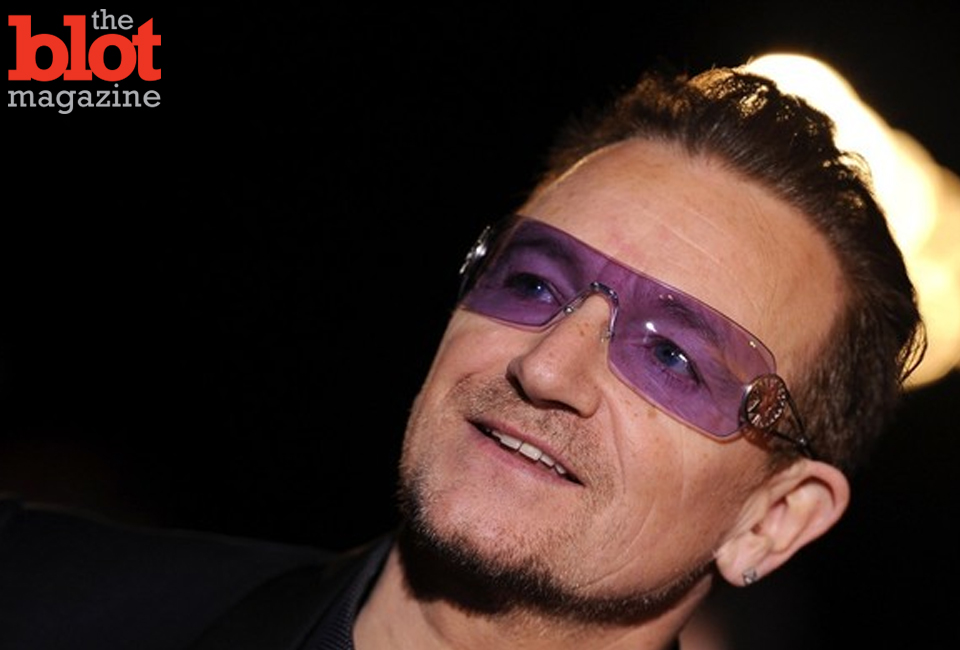 "Bono cited ""megalomania"" and ""generosity"" in his recent apology for automatically putting U2's latest album ""Songs of Innocence"" in iTunes users' accounts. (Zimbio.com photo)"