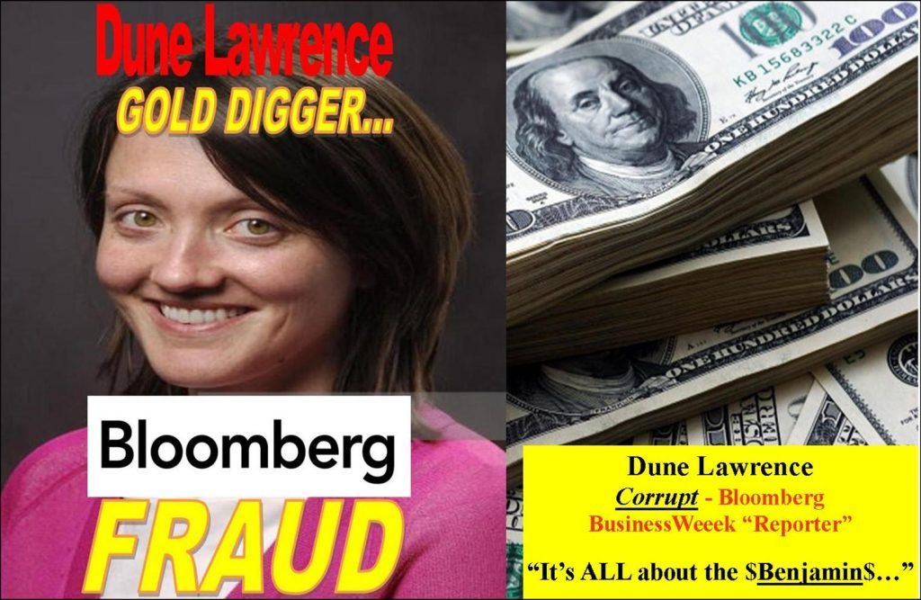 DUNE LAWRENCE, Bloomberg Reporter Fabricated AgFeed Industries Fraud Story