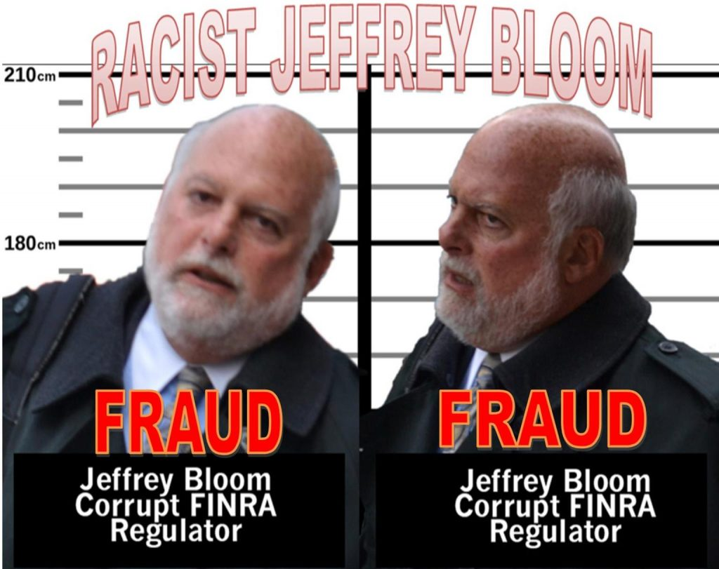 FINRA STAFFER JEFFREY BLOOM, FRAUD, RACIST, SEX OFFENDER CAUGHT