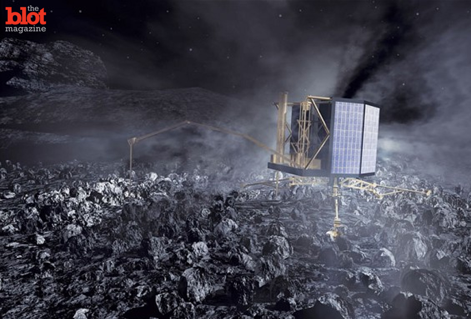 The European Space Agency landed its Rosetta probe on a comet yesterday, which should give us a wealth of knowledge about comets, the solar system and more.(telegraph.co.uk photo)