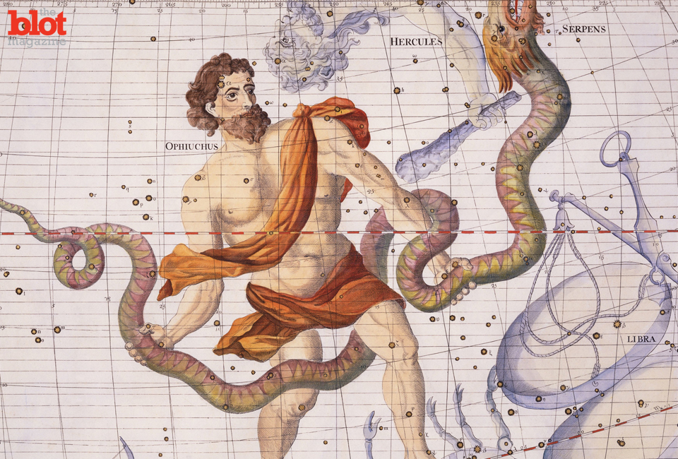Did you know there are actually 14 constellations, not 12 like the Zodiac says? On Nov. 29, the sun will pass through the 13th, which is called Ophiuchus. (© Stapleton Collection/Corbis image)