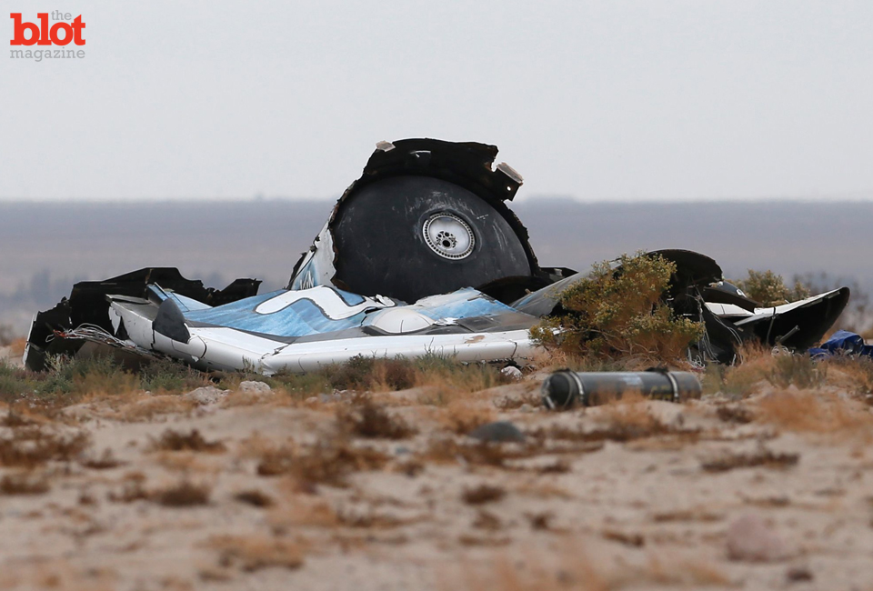 Friday's Virgin Galactic SpaceShipTwo crash killed Michael Alsbury — and proves that, under current technology, there's no purpose to manned space flight. (ibnlive.in.com/REUTERS/Lucy Nicholson photo)