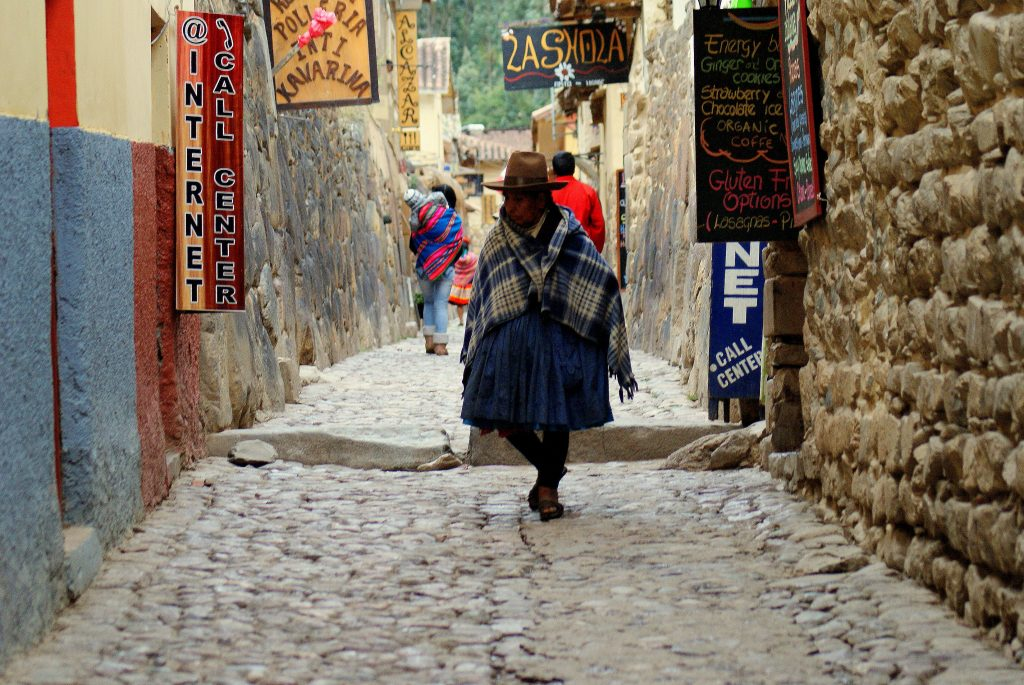 Old ways and modern meld in Ollantaytambo, Peru. (photo by Kirsten Koza)