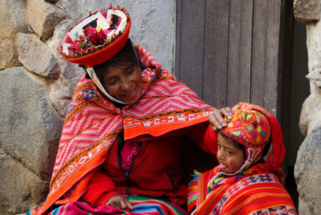 Traditional attire isn't just for special occasions but is everyday clothing for many in the Sacred Valley of Peru. (photo by Kirsten Koza)