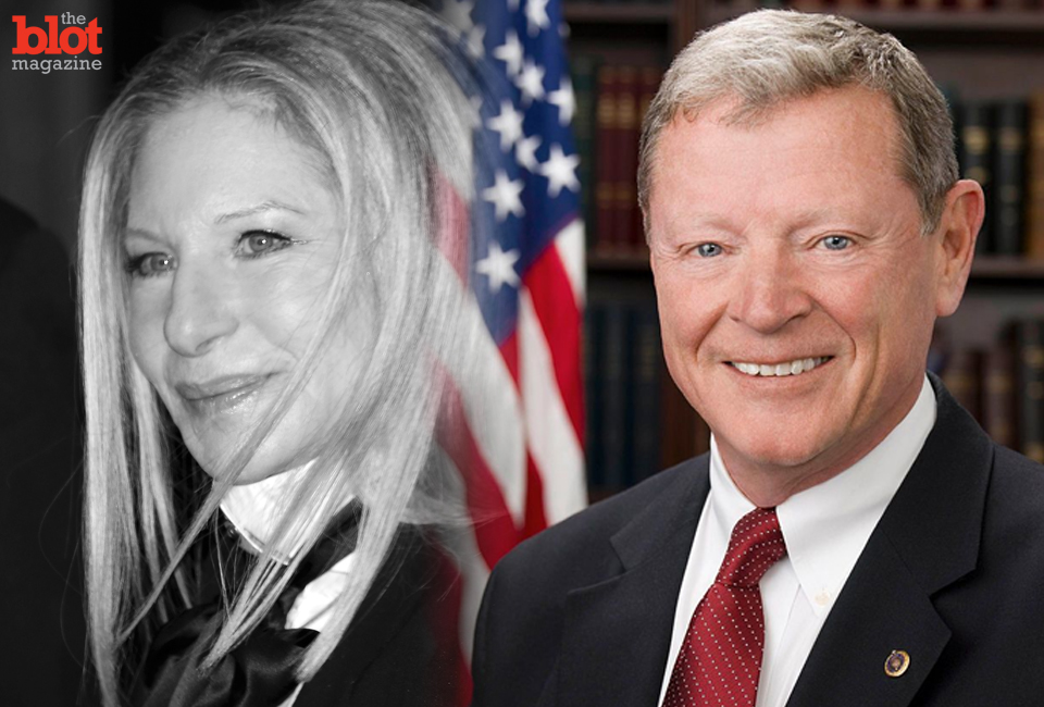 """Republican Sen. Jim Inhofe started a Twitter feud with """"Hollywood liberals"""" — namely Barbra Streisand — over what he calls the climate change """"hoax."""" (© Walter McBride/Corbis)"""