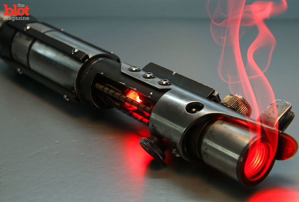 "As the world awaits the new ""Star Wars,"" we're going to imagine that its famed lightsaber weapon really exists for us to use in our everyday life. What would you do? (ro-lightsaber.blogspot.com photo)"