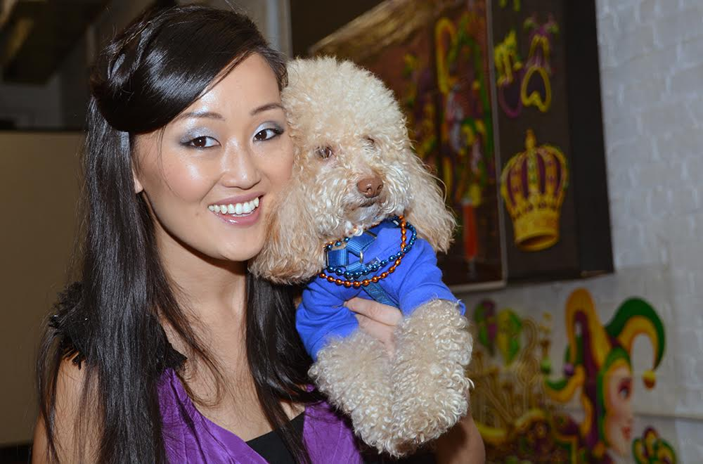 Beauty Theresa Wong and her fur baby BeeBee the Maltipoo.