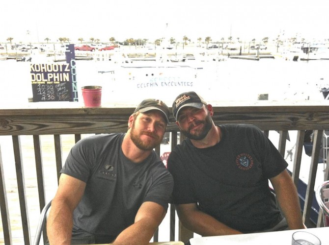 Chris Kyle and Chad Littlefield.