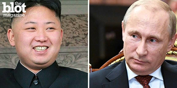 Russian President Vladimir Putin invited North Korean dictator Kim Jong-un to WWII 70th anniversary events in Moscow. Yeah, we're scratching our heads, too. (YouTube photo)