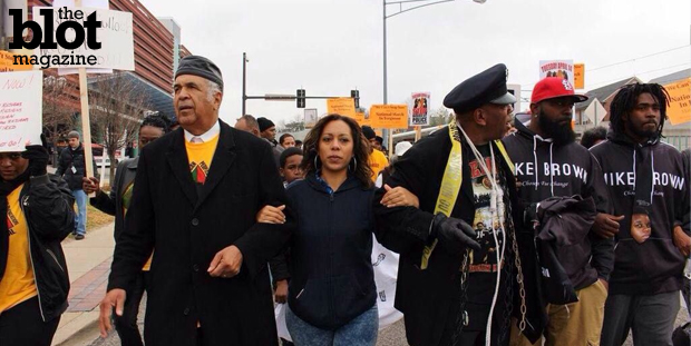 Jana Marie Gamble is under investigation by her employer KSDK-TV for planning and participating in a Ferguson rally without disclosing it to the station. (Photo courtesy Leadership Coalition For Justice Facebook page)