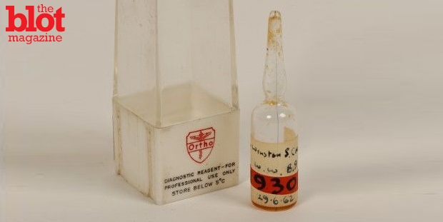Winston Churchill once said he had nothing to offer but 'blood, toil, tears and sweat.' Well, a vial of the former is about to be put on the auction block. (Photo courtesy of Duke's)