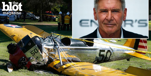 Harrison Ford crashed a small plane on a golf course last week. Many celebs lost their lives in the air, so why do they feel the need to fly themselves? (mirror.co.uk photo)