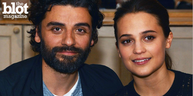 "Our movie maven Dorri Olds sits down with ""Ex Machina"" stars Oscar Isaac and Alicia Vikander about AI and the movie that's sure to become a sci-fi classic. (Photo by Dorri Olds)"