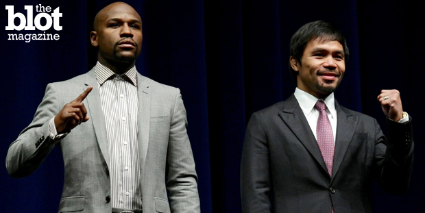 From the boxers to promo rights, the May 2 fight between Floyd Mayweather Jr. and Manny Pacquiao is expected to have huge payouts for everyone involved. (© Jonathan Alcorn/epa/Corbis photo)
