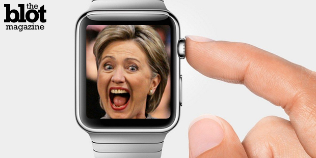 Hillary Clinton's presidential run news and the Apple Watch release may seem low key, but Benjamin Wey knows both employed the soft launch marketing tool. (Hillary: joeforamerica.com photo/Apple Watch: knowyourmobile.com photo)