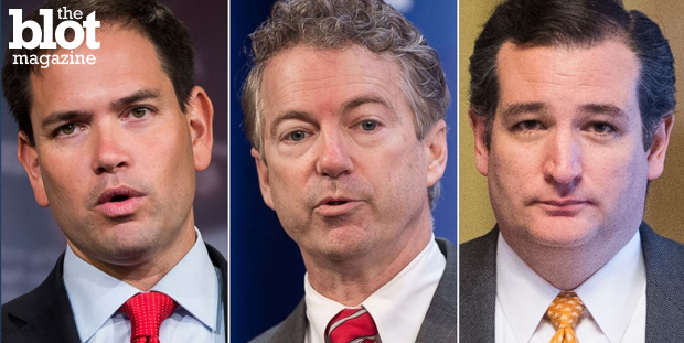 Sens. Marco Rubio, Rand Paul and Ted Cruz are vying for the 2016 Republican presidential nomination. Let's learn a bit more about what they stand for. (abcnews.go.com photo)