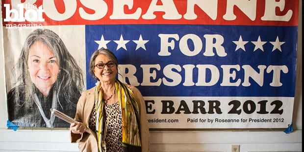 Dorri Olds was at the TFF2015 premiere of the documentary 'Roseanne for President,' which highlights groundbreaking star Roseanne Barr's 2012 presidential run. (Photo courtesy 'Roseanne For President.')