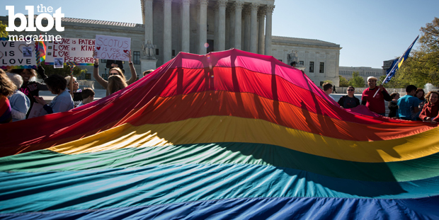 Gay marriage is all but assured as SCOTUS heard arguments about the issue this week. So, where should the LGBT rights movement shift its focus next? (© Ken Cedeno/Corbis photo)
