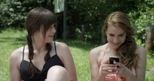 Michelle Hendley and Alexandra Turshen in a scene from the movie. (Photo courtesy of Wolfe Video)