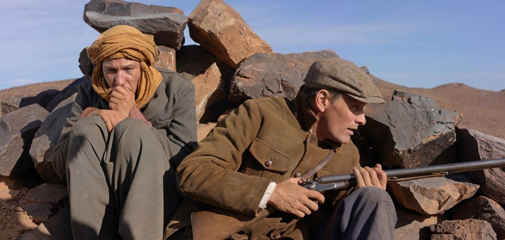 Reda Kateb and Mortensen in a scene from the film. ('Far From Men' photo)