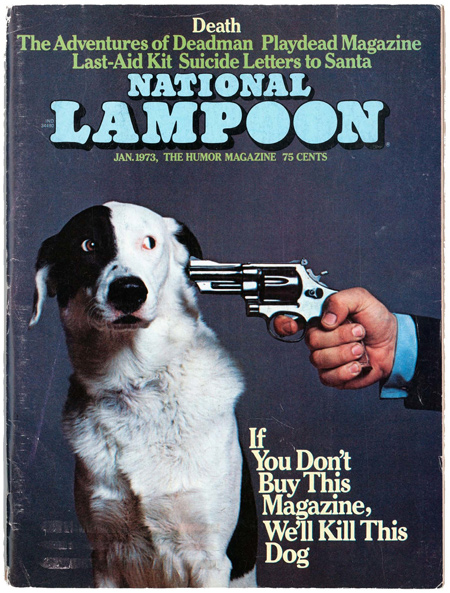 National Lampoon magazine's most famous gag cover, published in January 1973. The American Society of Magazine Editors named it the seventh-greatest magazine cover of the past 40 years.