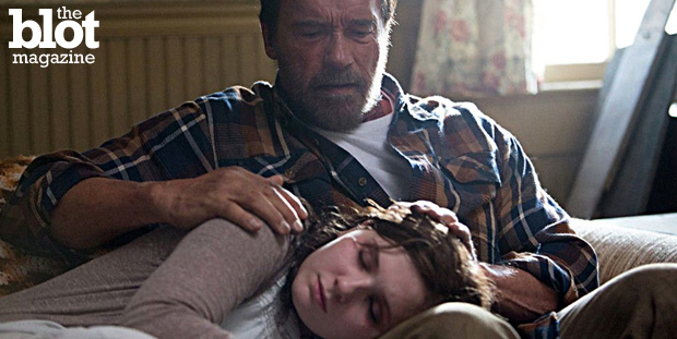 See 'Maggie,' a post-apocalyptic zombie story, for a glimpse of Arnold Schwarzenegger's tender side, which gives a deeply human twist to a worn-out genre. (Roadside Attractions photo)