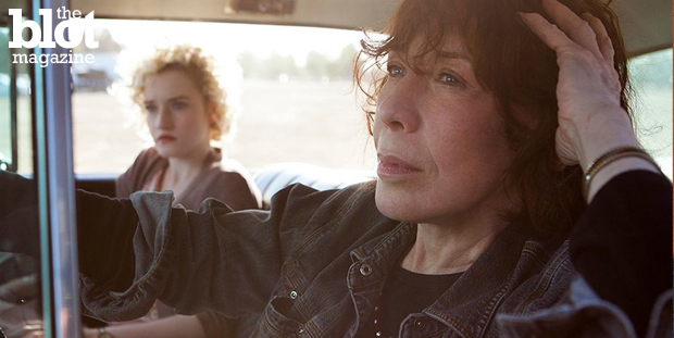 "Director Paul Weitz wrote ""Grandma"" for Lily Tomlin, and the actress shines as the misanthrope title character in the poignant pro-choice, pro-gay dramedy. Above, Julia Garner and Tomlin in a scene from the film. ('Grandma' photo)"