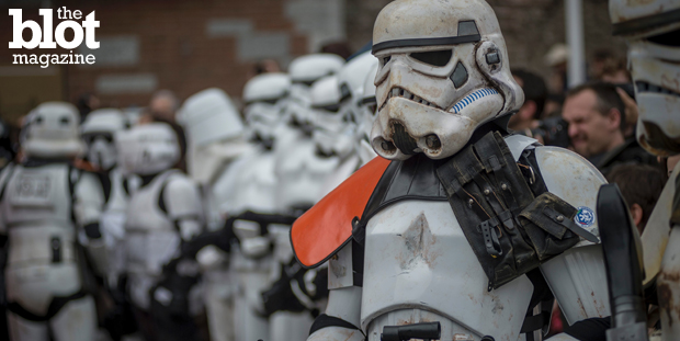 """One writer wonders if it's time for the rabid fans of """"Star Wars"""" to grow up — since we all know the last reboots of the franchise sullied its cool factor. Above, fans celebrate Star Wars Day in Milan last week. (© Antonio Masiello/NurPhoto/Corbis photo)"""