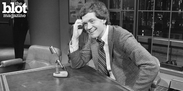 From the home office in Wahoo, Neb., here are our Top Ten David Letterman Moments In Late Night. The longtime host is leaving his desk behind. Here he is during his first show in 1982. (© Bettmann/Corbis photo)